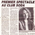 Marie Philippe annonce Club Soda