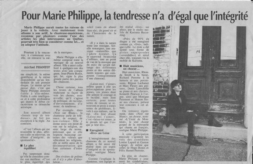 Marie Philippe Michel Phaneuf, Le Canada français 24/11/1993
