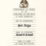 Marie Philippe nomination ADISQ