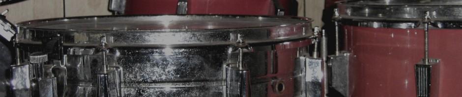 bannière d'en-tête snare drum