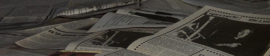 bannière d'en-tête coupures de presse